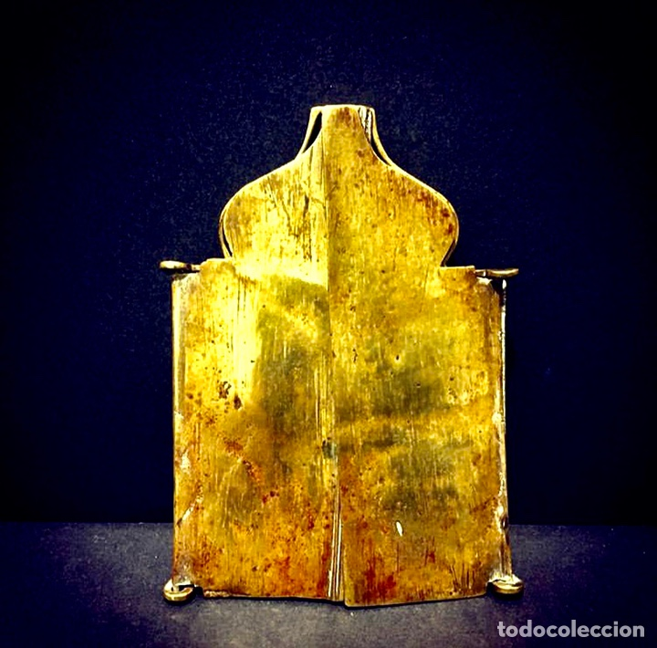 Antigüedades: Ícono de viaje Ruso Siglo XVIII-XIX - Foto 5 - 211570242