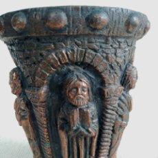 Antigüedades: JARRÓN DE BRONCE O COBRE. Lote 211577036