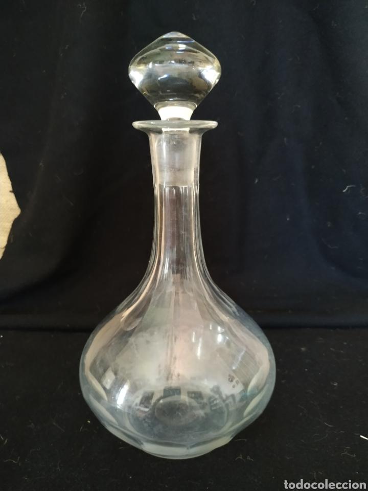 Antigüedades: Licorera en cristal de Cartagena . Ppios siglo xx . - Foto 2 - 211580614