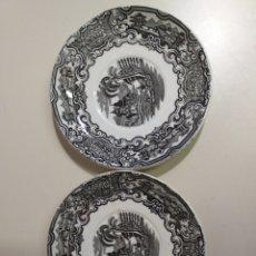 Antigüedades: 2 PLATOS DE LA CARTUJA PICKMAN. Lote 211590539