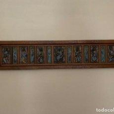 Antiquités: GRAN ESCENA ESMALTE APÓSTOLES/JESÚS . TRABAJO CATALÁN. DE LOS AÑOS 40/50S. Lote 211595641