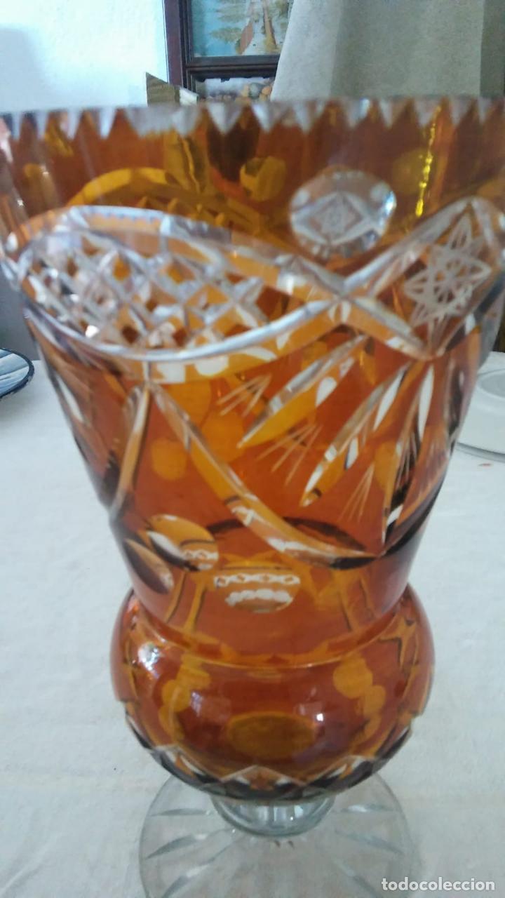 BUCARO CRISTAL TALLADO BOHEMIA (Antigüedades - Cristal y Vidrio - Otros)