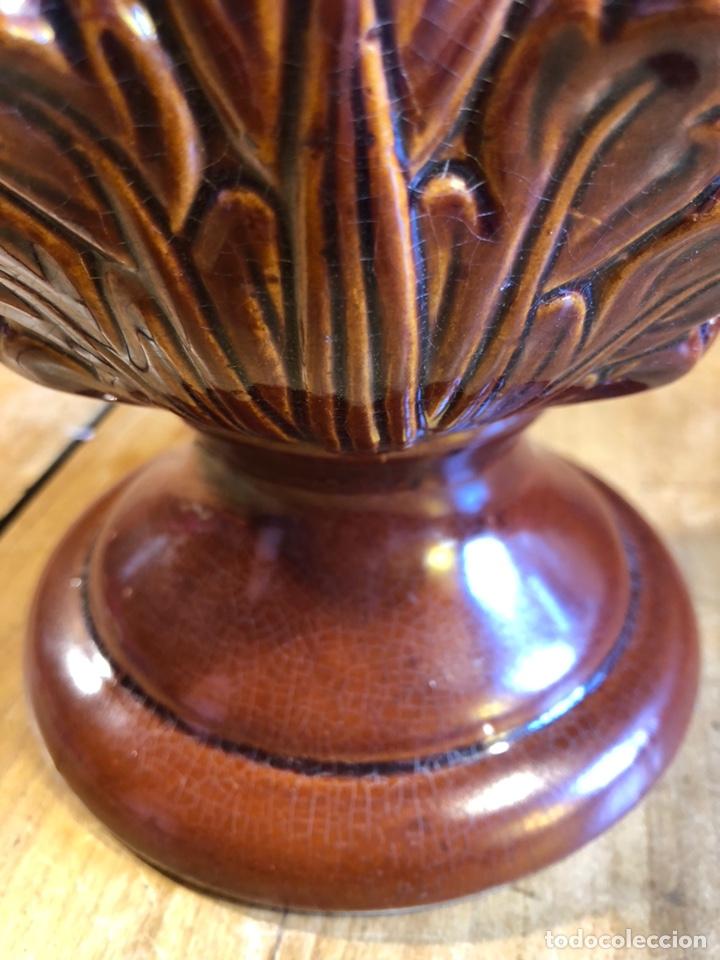 Antigüedades: Antigua piña ceramica de manises retro vintage - Foto 3 - 211602721