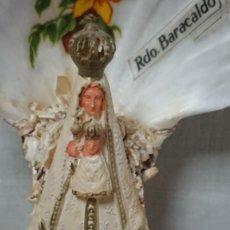 Antigüedades: BENDITERA VIRGEN DE BEGOÑA RECUERDO SOUVENIR DE BARACALDO. Lote 211604201