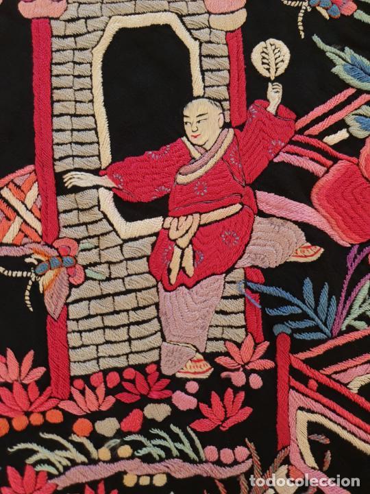 Antigüedades: EXCEPCIONAL MANTON DE MANILA DE EXPORTACION CHINA,DINASTIA QING,S. XIX - Foto 10 - 211604687