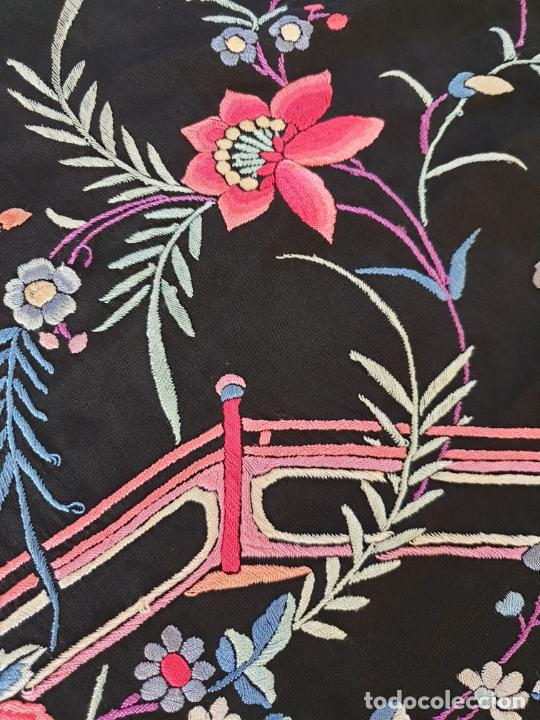 Antigüedades: EXCEPCIONAL MANTON DE MANILA DE EXPORTACION CHINA,DINASTIA QING,S. XIX - Foto 14 - 211604687