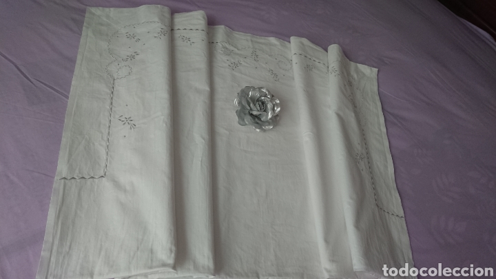 Antigüedades: BONITA SÁBANA ALGODÓN , 158X248 CM - Foto 8 - 211607549