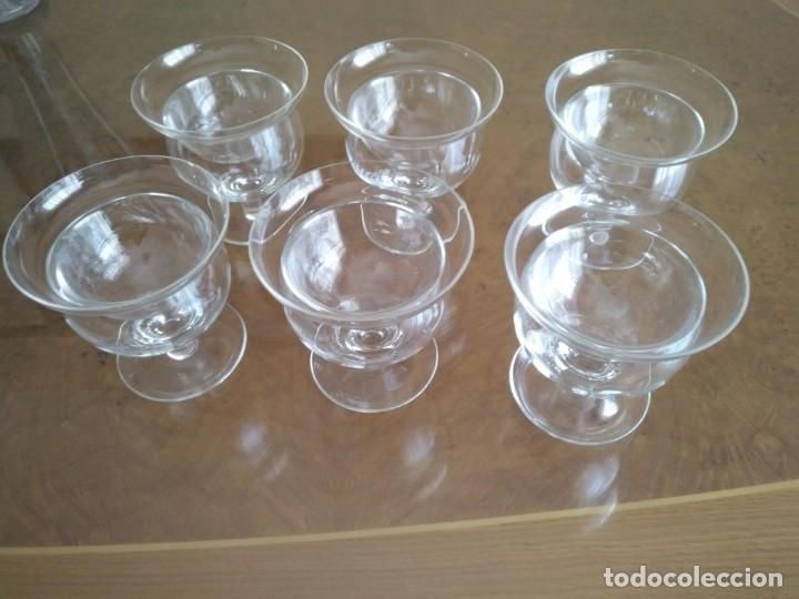 Antigüedades: Juego 6 COPAS DE COCTEL DE MARISCO - cristal de bohemia con sus contenedores - Foto 2 - 211610686