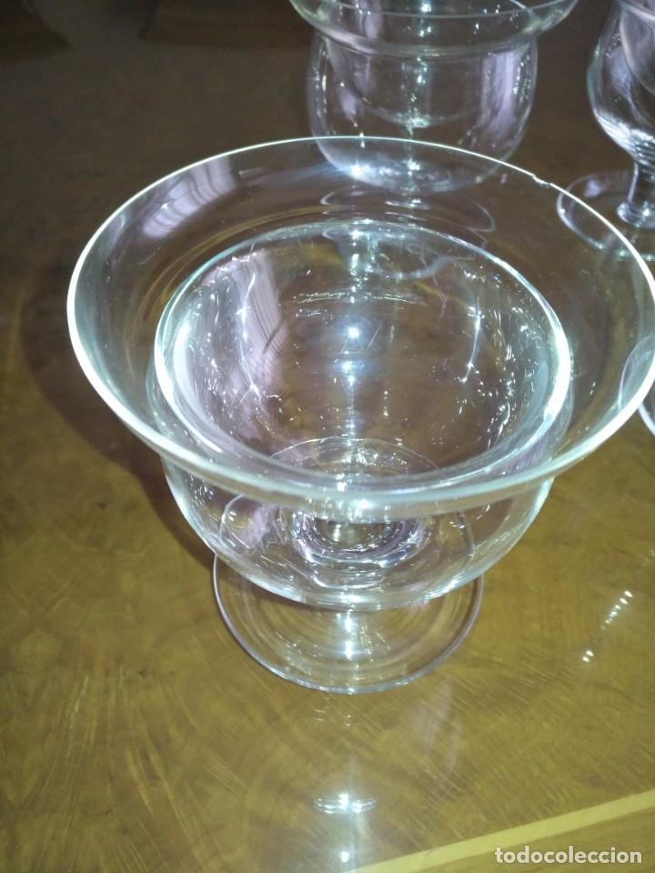 Antigüedades: Juego 6 COPAS DE COCTEL DE MARISCO - cristal de bohemia con sus contenedores - Foto 3 - 211610686
