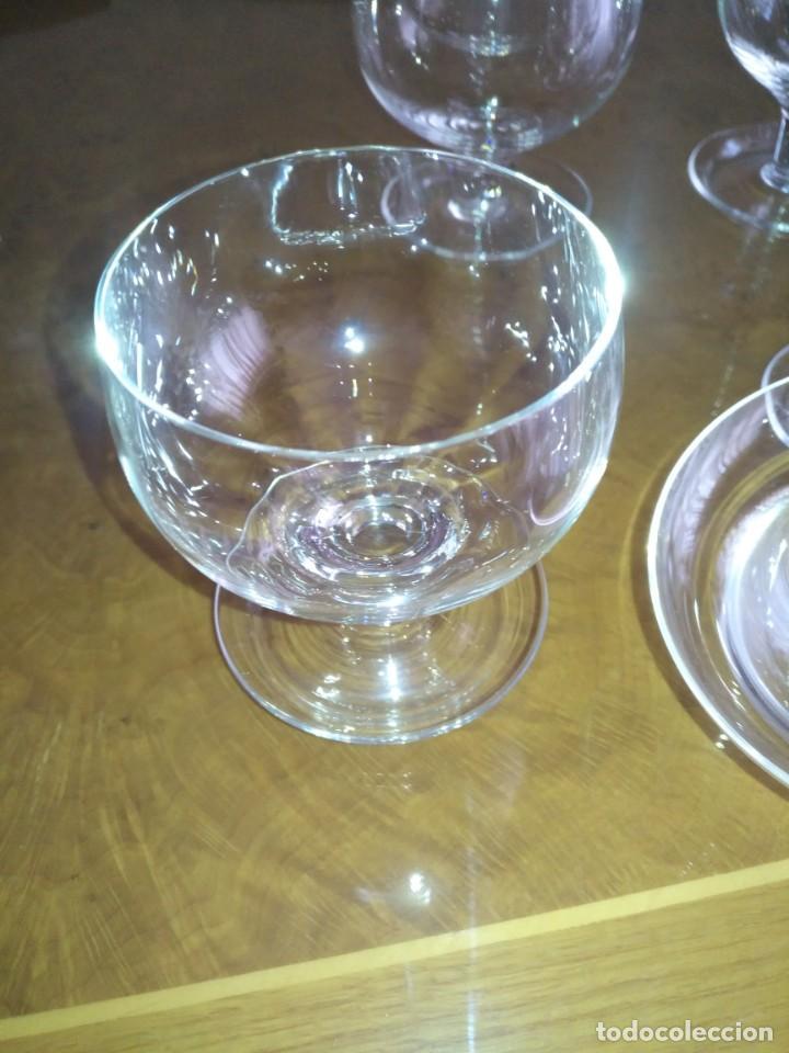 Antigüedades: Juego 6 COPAS DE COCTEL DE MARISCO - cristal de bohemia con sus contenedores - Foto 4 - 211610686