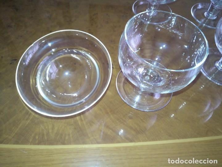 Antigüedades: Juego 6 COPAS DE COCTEL DE MARISCO - cristal de bohemia con sus contenedores - Foto 5 - 211610686