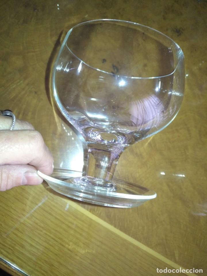 Antigüedades: Juego 6 COPAS DE COCTEL DE MARISCO - cristal de bohemia con sus contenedores - Foto 6 - 211610686