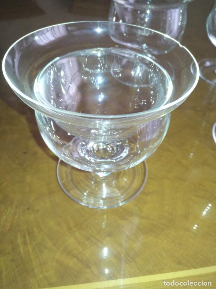 Antigüedades: Juego 6 COPAS DE COCTEL DE MARISCO - cristal de bohemia con sus contenedores - Foto 7 - 211610686