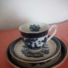 Antigüedades: PRECIOSO SOLITARIO DE CAFÉ CON PLATO DE POSTRE,DOUBLE PHOENIX NIKKO JAPAN. Lote 211617392