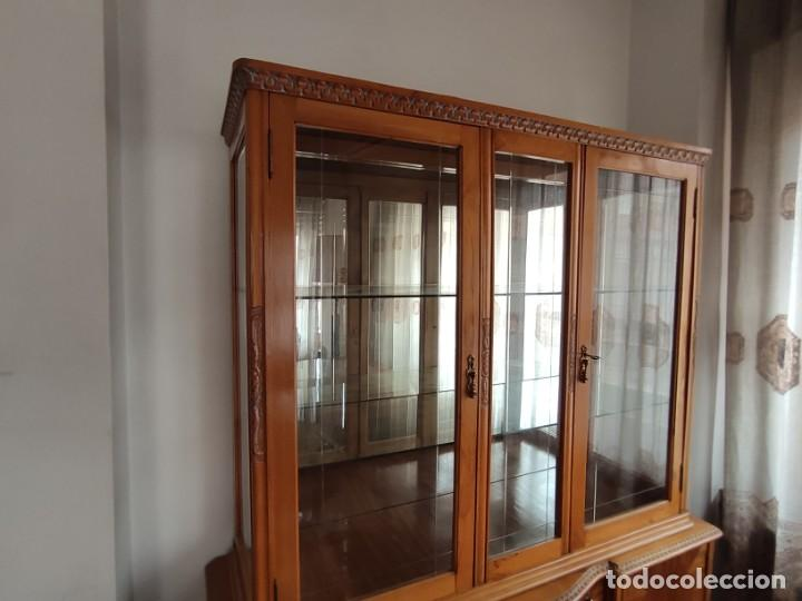 Antigüedades: Aparador-vitrina estilo isabelino - Foto 3 - 211624260