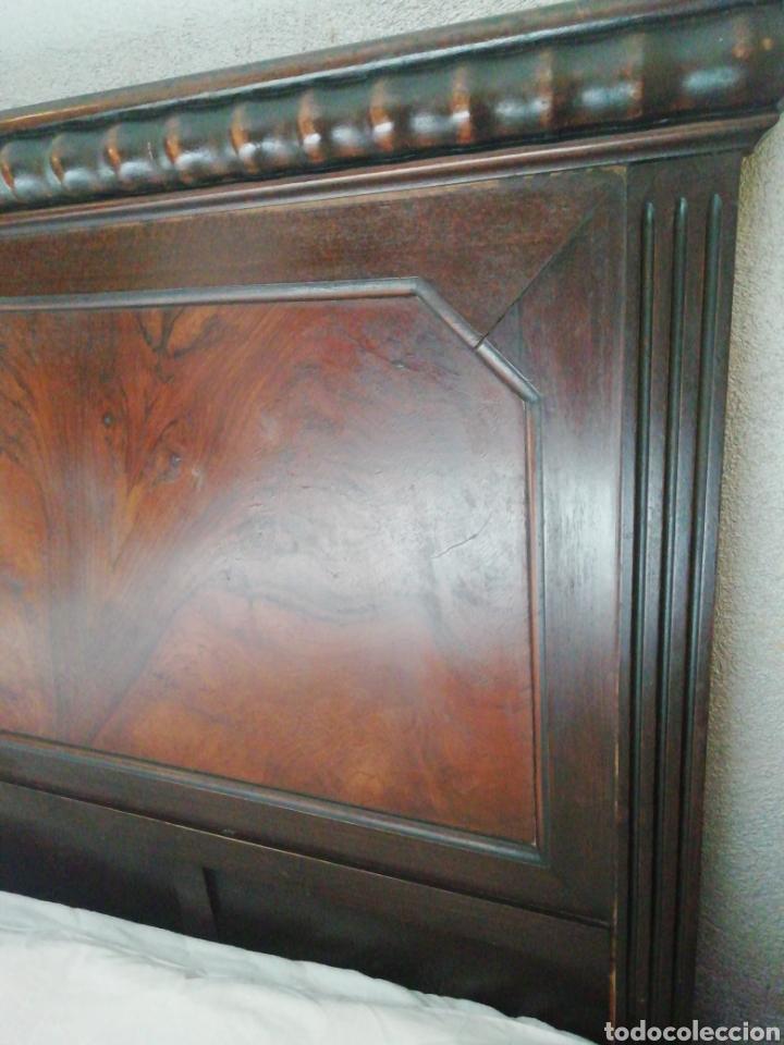Antigüedades: Cabecero madera maciza raíz de nogal - Foto 2 - 211624292