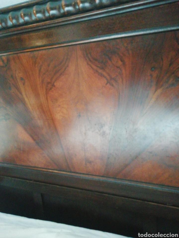 Antigüedades: Cabecero madera maciza raíz de nogal - Foto 3 - 211624292