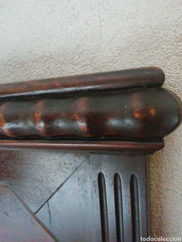 Antigüedades: Cabecero madera maciza raíz de nogal - Foto 4 - 211624292