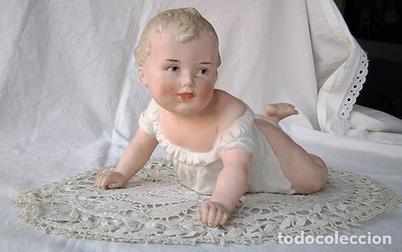 Antigüedades: Bebé piano. Niño piano. Baby piano. Biscuit. Alemania, Heubach. Principio siglo XX - Foto 3 - 211624454