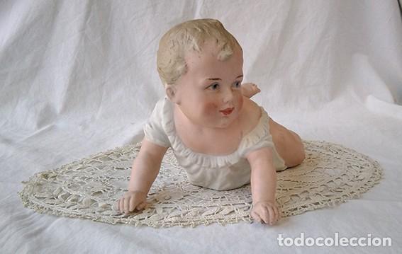 Antigüedades: Bebé piano. Niño piano. Baby piano. Biscuit. Alemania, Heubach. Principio siglo XX - Foto 4 - 211624454