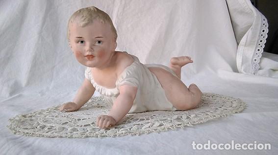 Antigüedades: Bebé piano. Niño piano. Baby piano. Biscuit. Alemania, Heubach. Principio siglo XX - Foto 10 - 211624454