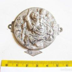 Antigüedades: PLACA DE SAN CRISTOBAL TROQUELADA CON LA INSCRIPCIÓN ARTES. Lote 211633427
