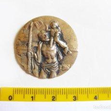 Antigüedades: PLACA METÁLICA CON LA IMAGEN DE SAN CRISTOBAL. Lote 211633475
