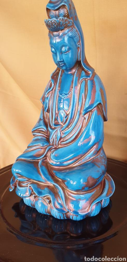 Antigüedades: Imagen oriental de porcelana - Foto 4 - 211660274