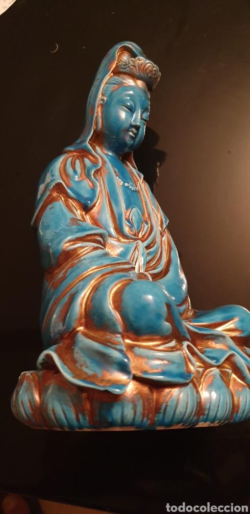 Antigüedades: Imagen oriental de porcelana - Foto 2 - 211660274