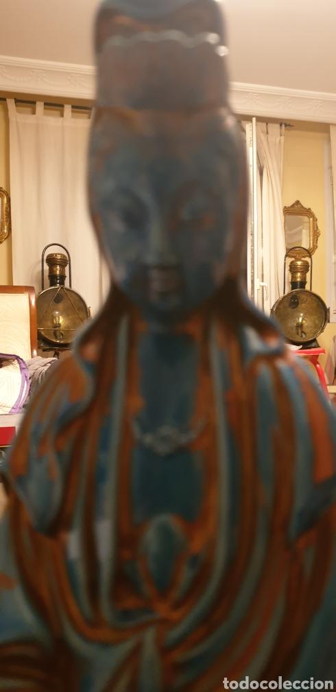 Antigüedades: Imagen oriental de porcelana - Foto 11 - 211660274