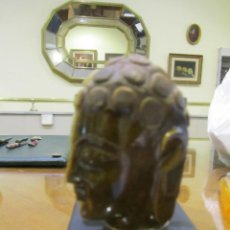 Antigüedades: MANGO DE BASTÓN EN OJO DE TIGRE. Lote 211660663