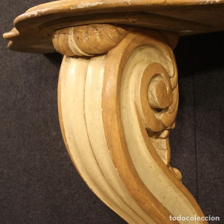 Antigüedades: Consola italiana lacada y pintada - Foto 4 - 211662741