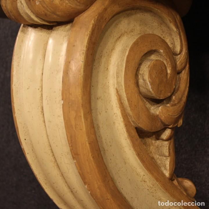 Antigüedades: Consola italiana lacada y pintada - Foto 8 - 211662741
