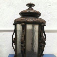 Antigüedades: MUY ANTIGUO FOROL TALLADO EN MADERA FINALES SIGLO XIX. Lote 211662854