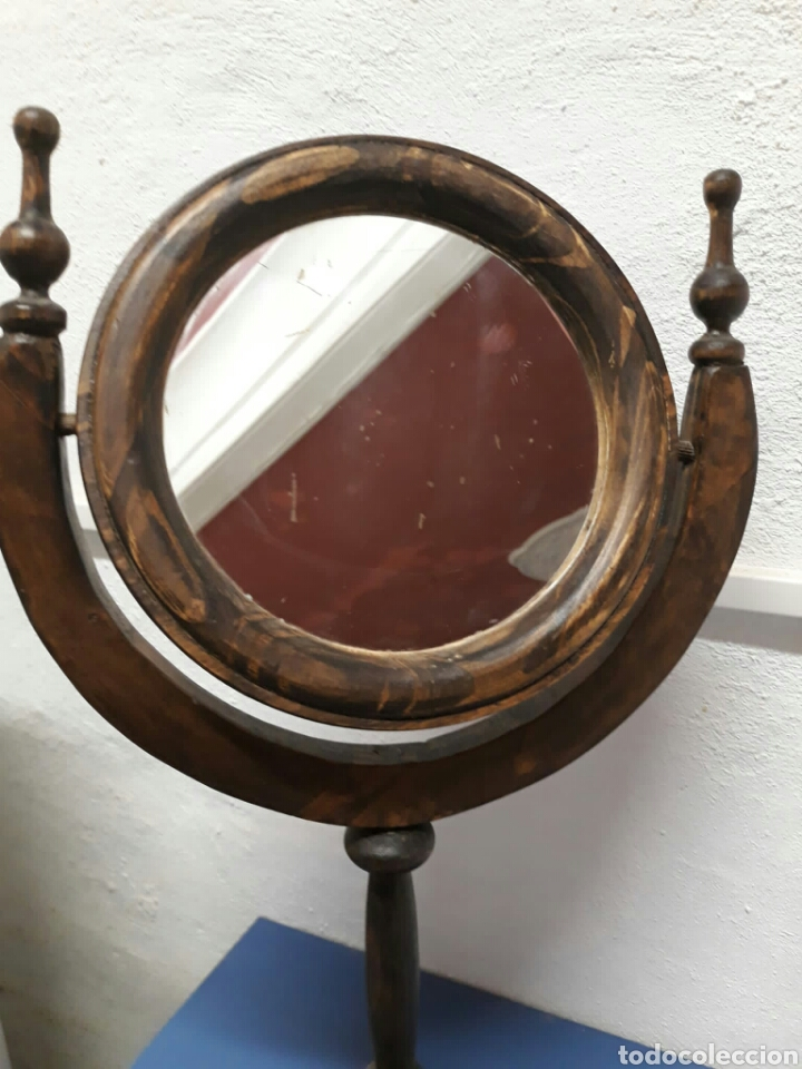 Antigüedades: Antiguo espejo de tocador o sobre mesa , - Foto 3 - 211663269
