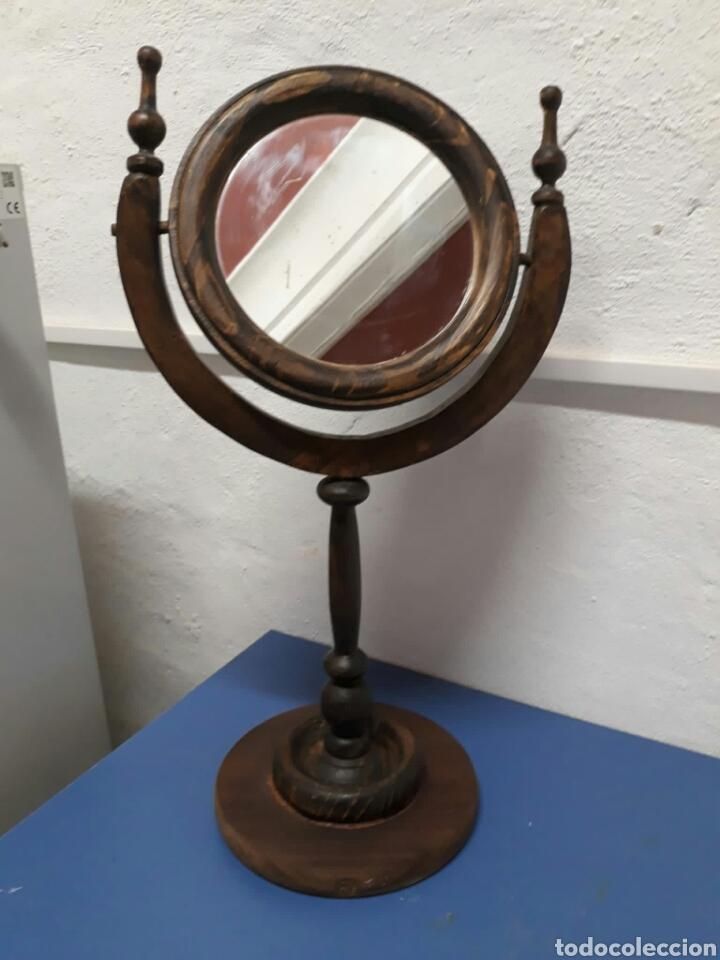Antigüedades: Antiguo espejo de tocador o sobre mesa , - Foto 5 - 211663269