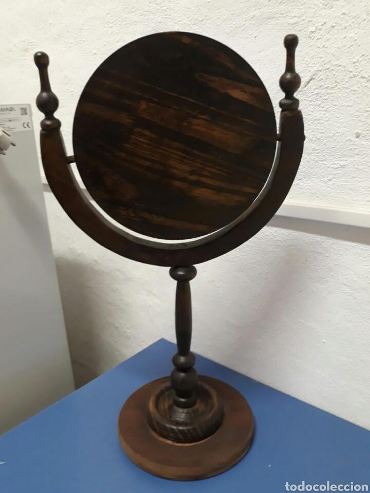 Antigüedades: Antiguo espejo de tocador o sobre mesa , - Foto 6 - 211663269