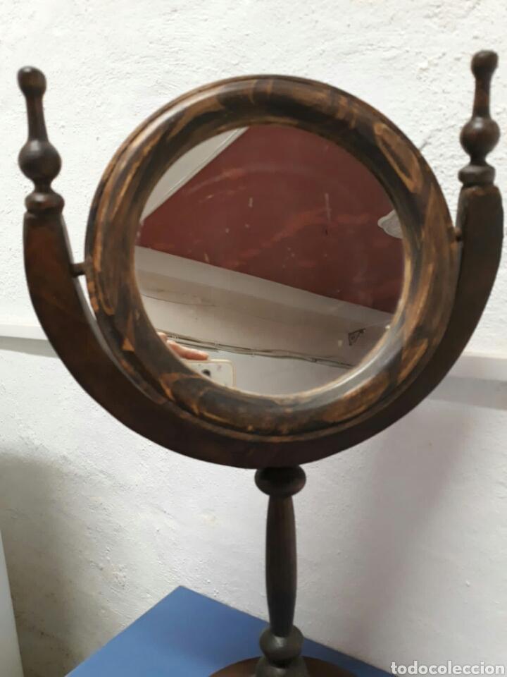 Antigüedades: Antiguo espejo de tocador o sobre mesa , - Foto 7 - 211663269