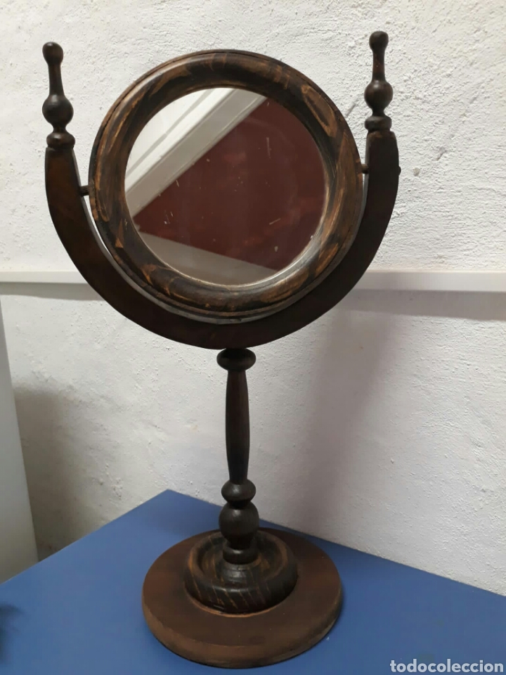 Antigüedades: Antiguo espejo de tocador o sobre mesa , - Foto 9 - 211663269