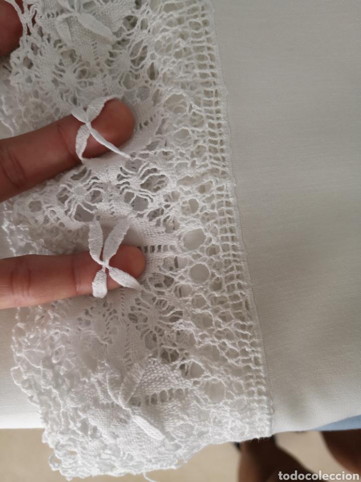 Antigüedades: Sabana 200*240cm antigua con bordado a mano - Foto 7 - 211667793