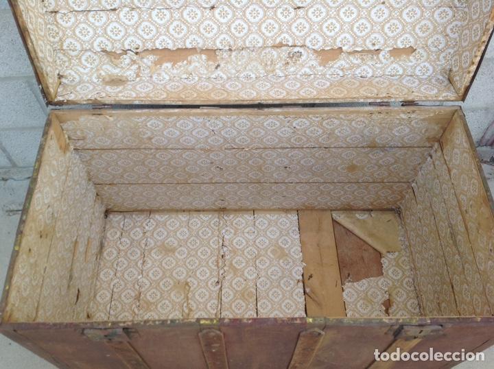 Antigüedades: ANTIGUO BAÚL MUY GRANDE - Foto 2 - 211672741