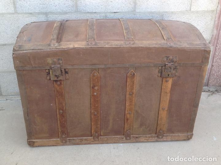 Antigüedades: ANTIGUO BAÚL MUY GRANDE - Foto 4 - 211672741