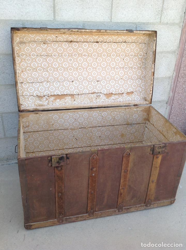 Antigüedades: ANTIGUO BAÚL MUY GRANDE - Foto 5 - 211672741
