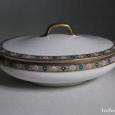 Antigüedades: LEGUMBRERA DE PORCELANA DE LIMOGES - SOPERA - EMILE BOURGEOIS - MARSELLA - CIRCA 1900. Lote 211674721