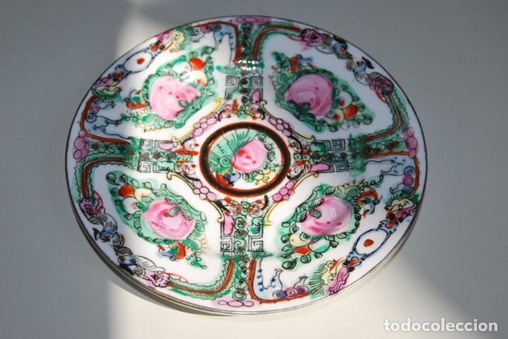 PRECIOSO PLATO DE PORCELANA MACAO - SELLO EN LA BASE - PINTADO A MANO - 15,4 CM - MACAU (Antigüedades - Porcelanas y Cerámicas - China)