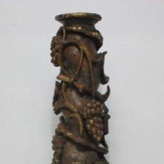 Antiguidades: ANTIGUA COLUMNA SALOMÓNICA, BARROCA - TALLA EN MADERA POLICROMADA - ALTURA 98 CM - S. XVIII. Lote 211679816