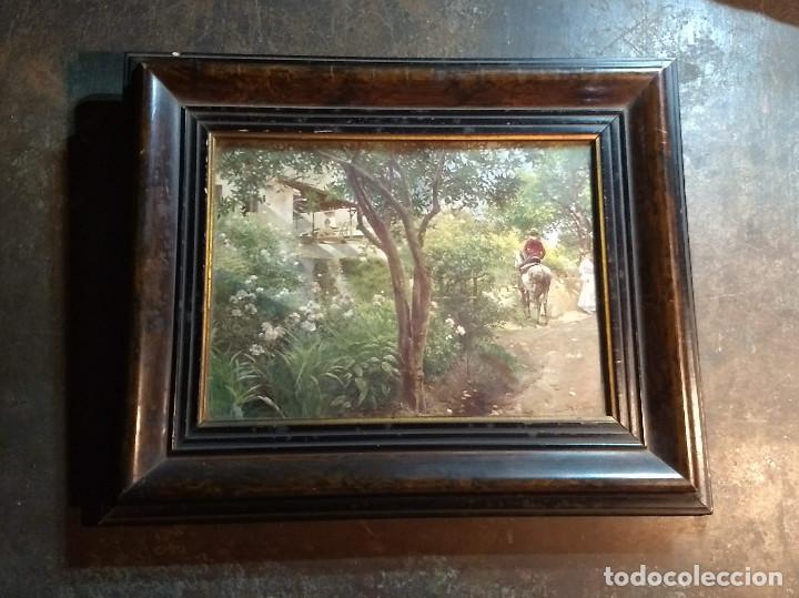 Antigüedades: Pareja de marcos antiguos de madera con cristal - Foto 2 - 211692720