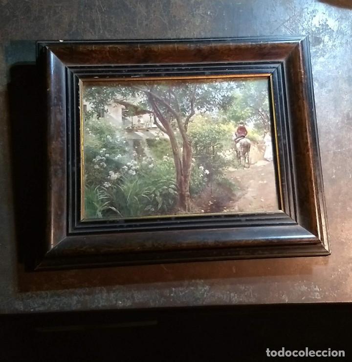 Antigüedades: Pareja de marcos antiguos de madera con cristal - Foto 3 - 211692720