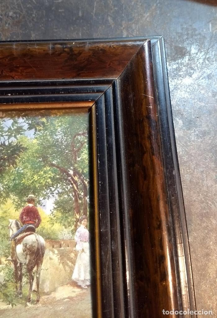 Antigüedades: Pareja de marcos antiguos de madera con cristal - Foto 4 - 211692720