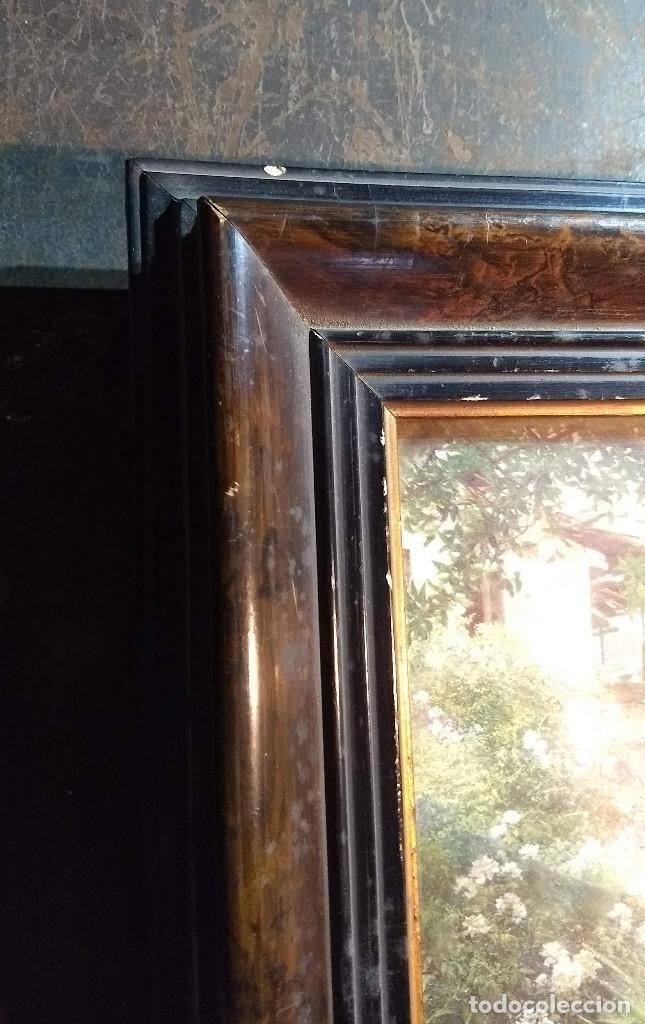 Antigüedades: Pareja de marcos antiguos de madera con cristal - Foto 5 - 211692720